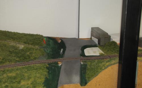 Podklad silnice u stanice Ledeč